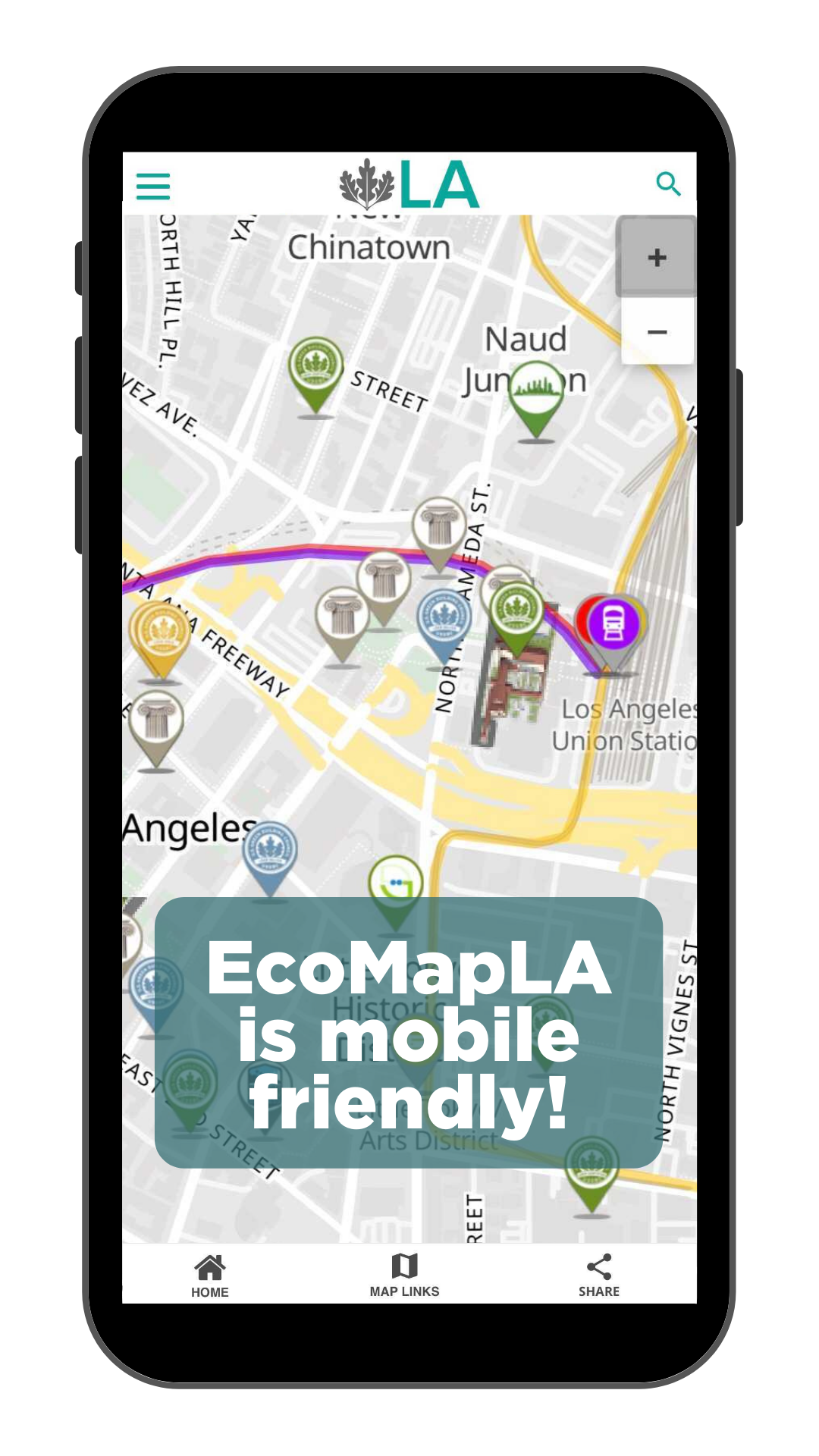 EcoMapLA is mobile friendly!